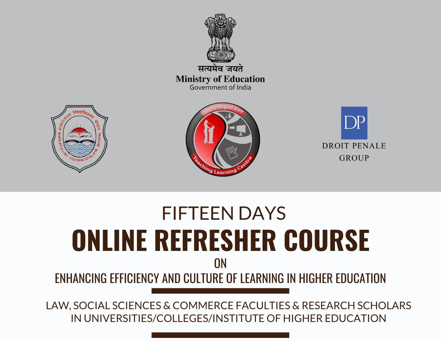 Course Image FDP-45 Enhancing Efficiency and Culture of Learning in Higher Education