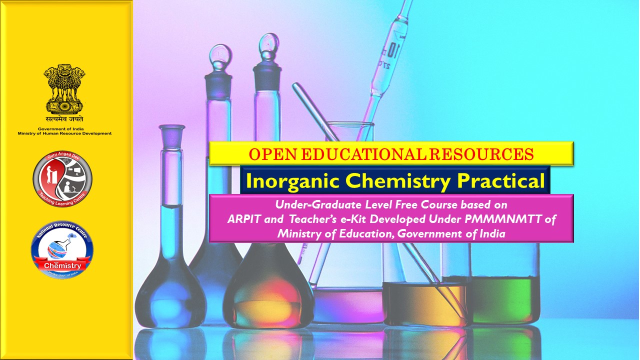 Course Image UG OER : INORGANIC CHEMISTRY PRACTICAL