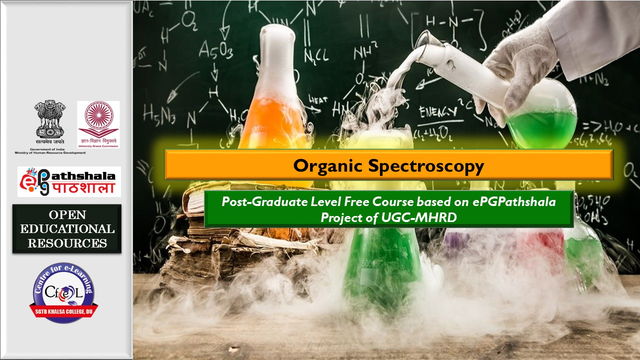 Course Image  EPGP: P12: Organic Spectroscopy