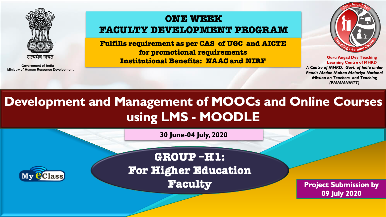Course Image One Week FDP for Higher Education Faculty :Development and Management of MOOCs and Online Courses using LMS- MOODLE